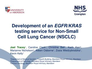 Development of an  EGFR/KRAS  testing service for Non-Small Cell Lung Cancer (NSCLC)