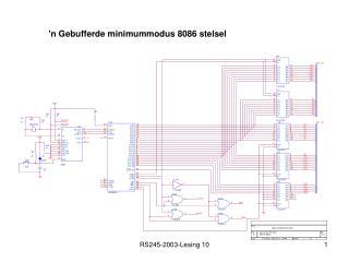 'n Gebufferde minimummodus 8086 stelsel