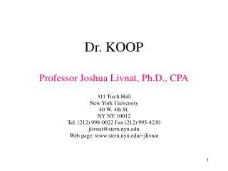 Dr. KOOP