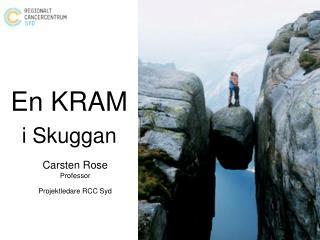 En KRAM i Skuggan Carsten Rose Professor Projektledare RCC Syd