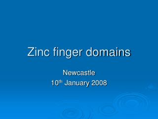 Zinc finger domains