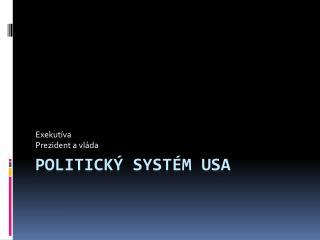 Politický systém USA