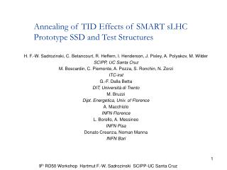 Annealing of TID Effects of SMART sLHC Prototype SSD and Test Structures