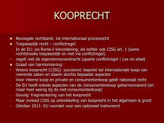 KOOPRECHT