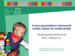 A kora gyermekkori intervenció múltja, jelene és remélt jövője