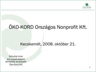 ÖKO-KORD Országos Nonprofit Kft.