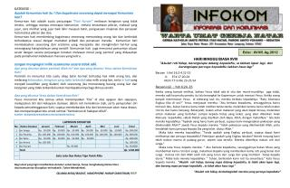 Edisi :  XVI I/5. Ag .2012