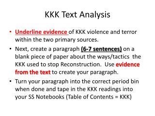 KKK Text Analysis
