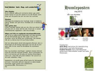 Humleposten      maj 2012