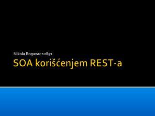 SOA  korišćenjem REST-a