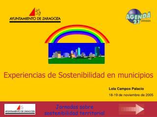 Experiencias de Sostenibilidad en municipios