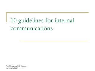 10 guidelines for internal communications