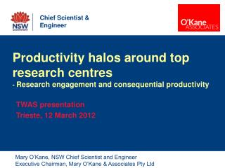 Productivity halos around top research centres