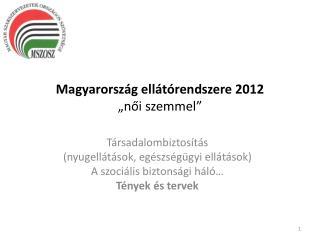 """Magyarország ellátórendszere 2012 """"női szemmel"""""""