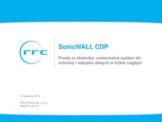 SonicWALL CDP