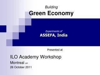 Building Green Economy