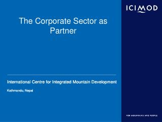 The Corporate Sector as Partner