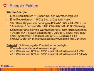 Energie-Fakten