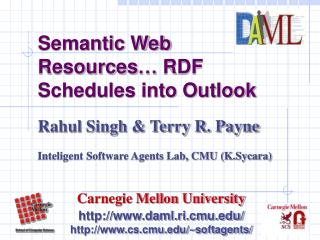 Semantic Web Resources… RDF Schedules into Outlook