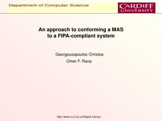 An approach to conforming a MAS  to a FIPA-compliant system