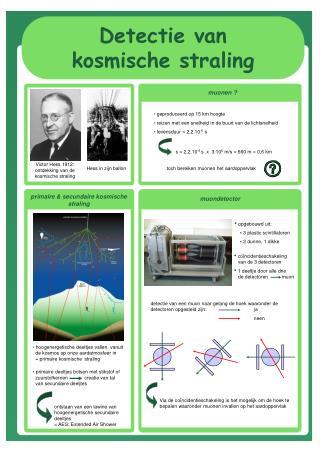 Detectie van  kosmische straling