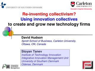 Re-inventing collectivism?  Using innovation collectives  to create and grow new technology firms
