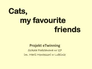 Cats,        my favourite                          friends