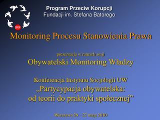 Program Przeciw Korupcji Fundacji im. Stefana Batorego