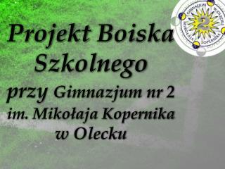 Projekt  Boiska  Szkolnego  przy  Gimnazjum nr 2  im. Mikołaja Kopernika  w Olecku