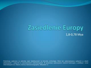 Zasiedlenie Europy