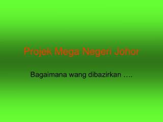 Projek Mega Negeri Johor