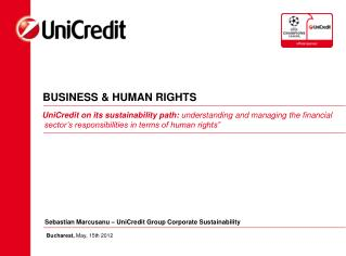 BUSINESS & HUMAN RIGHTS