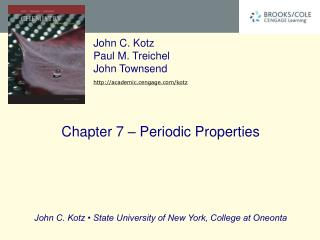 Chapter 7 – Periodic Properties
