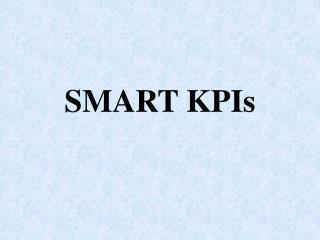 SMART KPIs