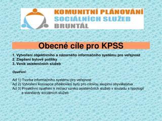 Obecné cíle pro KPSS