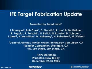 IFT\P2006-154