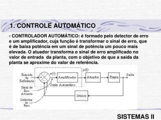 1. CONTROLE AUTOMÁTICO