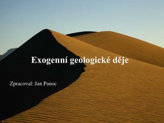 Exogenní geologické děje