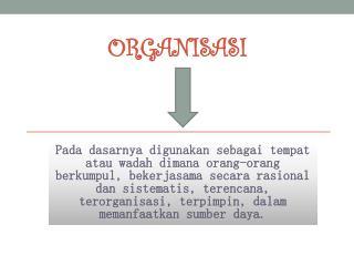 Organisasi