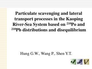 Hung G.W., Wang P., Shen Y.T.