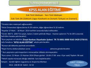 KPSS ALAN EĞİTİMİ