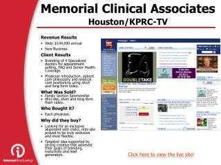 Memorial Clinical Associates Houston/KPRC-TV
