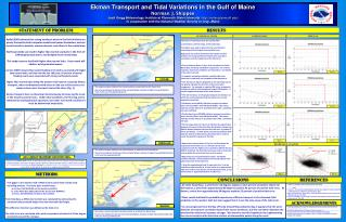 Ekman Transport and Tidal Variations in the Gulf of Maine Norman J. Shippee