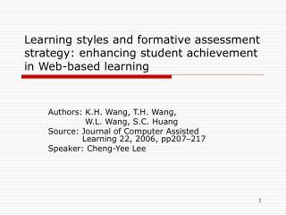 Authors: K.H. Wang, T.H. Wang,     W.L. Wang, S.C. Huang
