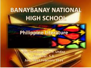 BANAYBANAY NATIONAL HIGH SCHOOL