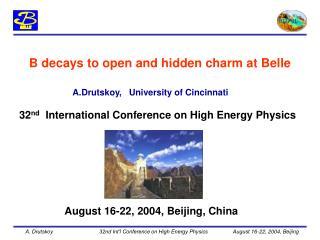 A.Drutskoy,   University of Cincinnati
