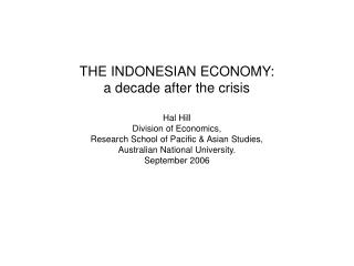 1. Introduction 2. Macroeconomic Survey 3. Trade Policy and the Commercial Environment