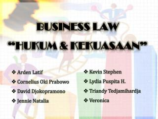 "BUSINESS LAW ""HUKUM & KEKUASAAN"""