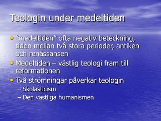 Teologin under medeltiden