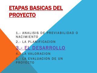 ETAPAS BASICAS DEL PROYECTO